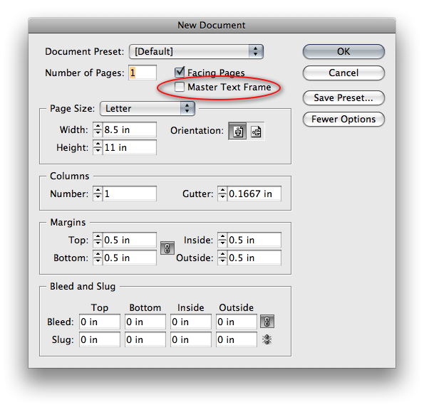 Change color of png in indesign. Master text frame what