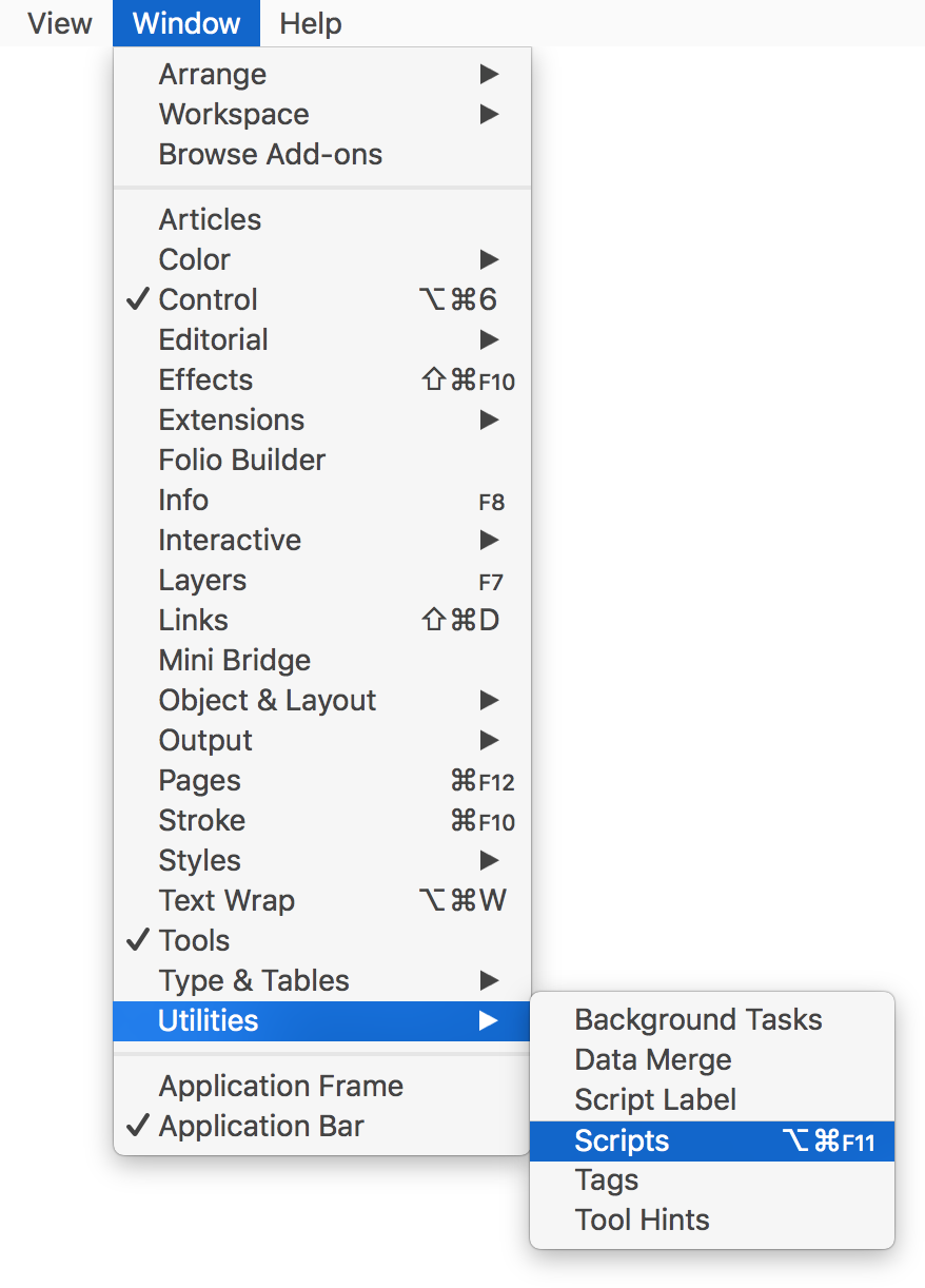 Change png color indesign. Install an script redokun