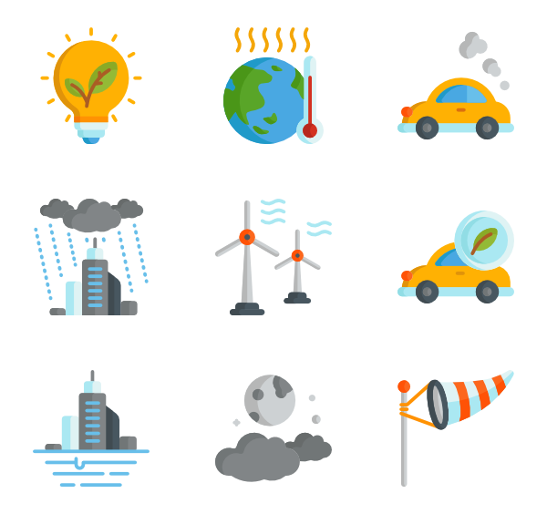 Change vector climate. Icons free banner black and white stock