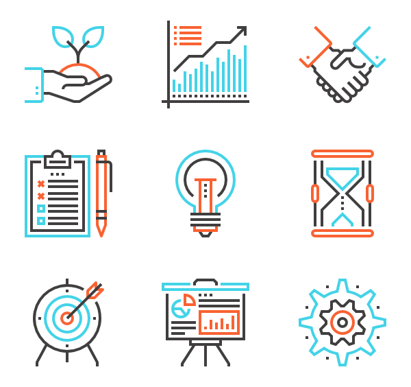 Money icons free business. Change vector black and white library