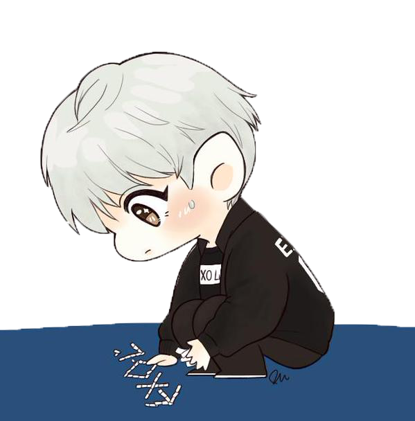 chanyeol transparent chibi