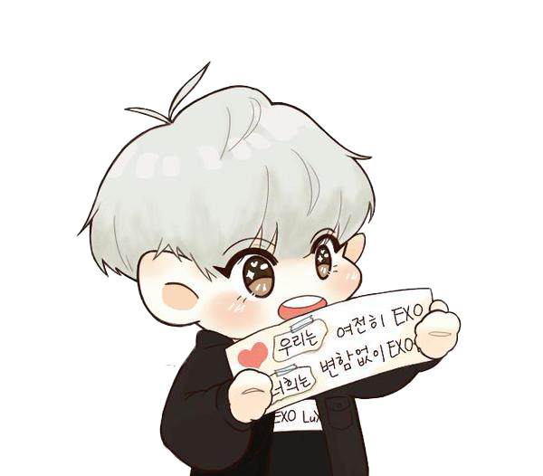 Chanyeol transparent chibi. Exo sticker by koko