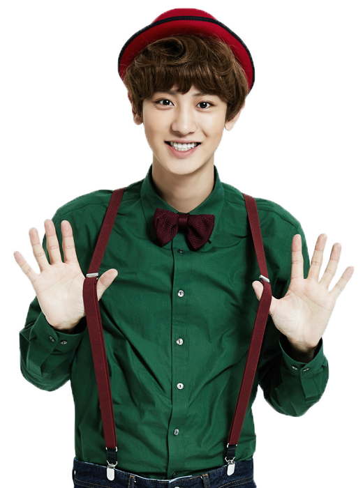 Chanyeol transparent christmas. Png by fs amethystashes
