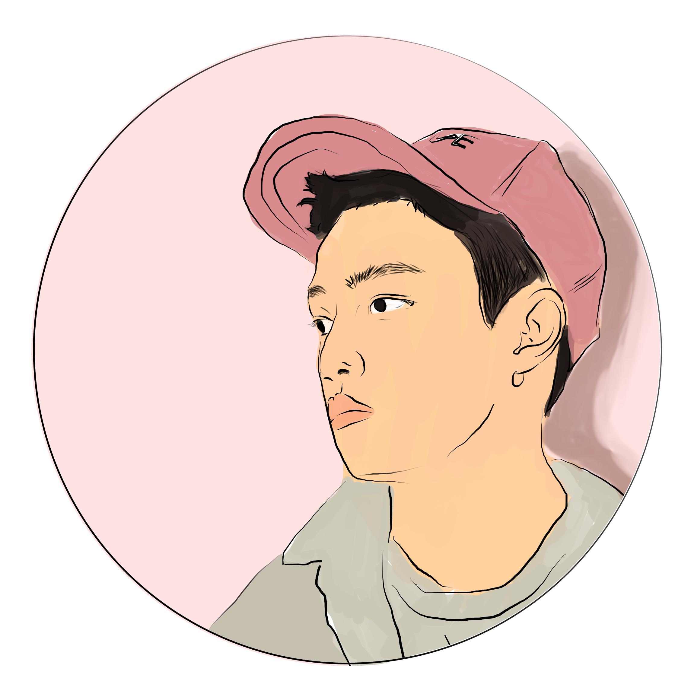 Chanyeol transparent circle. A sticker design of