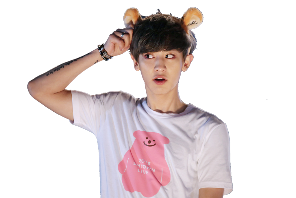 Chanyeol transparent cute. S png render by