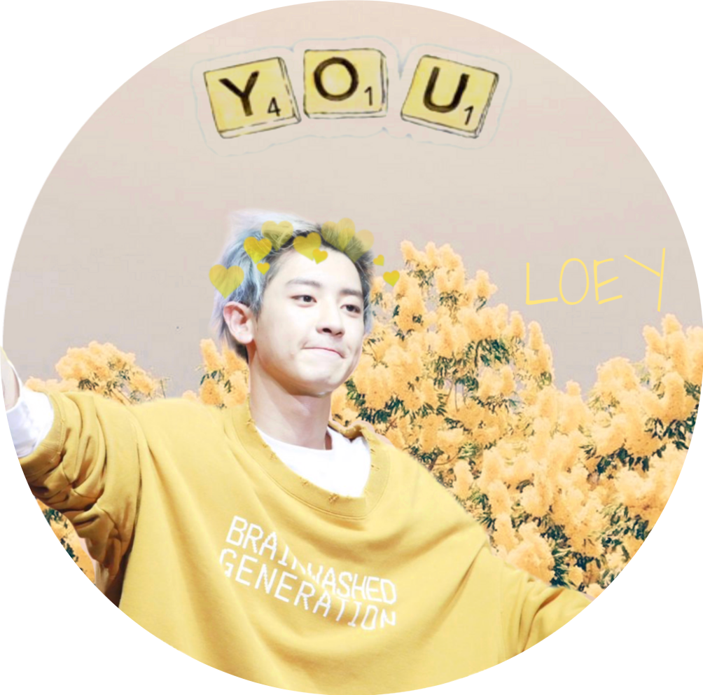 chanyeol transparent sticker