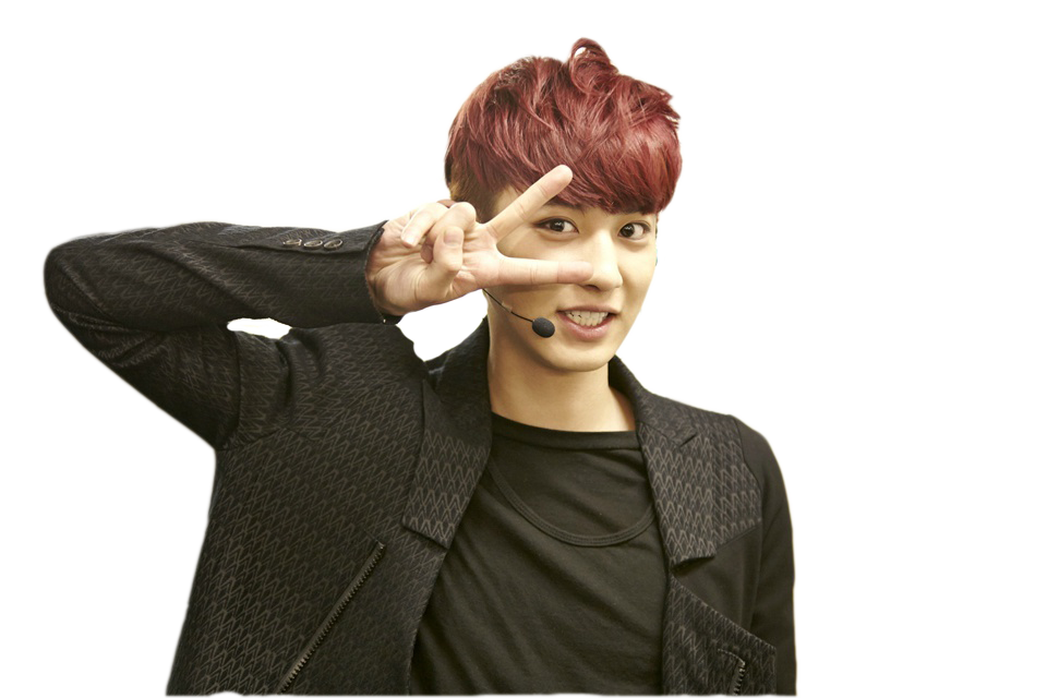 Chanyeol transparent forehead. Png render by crin