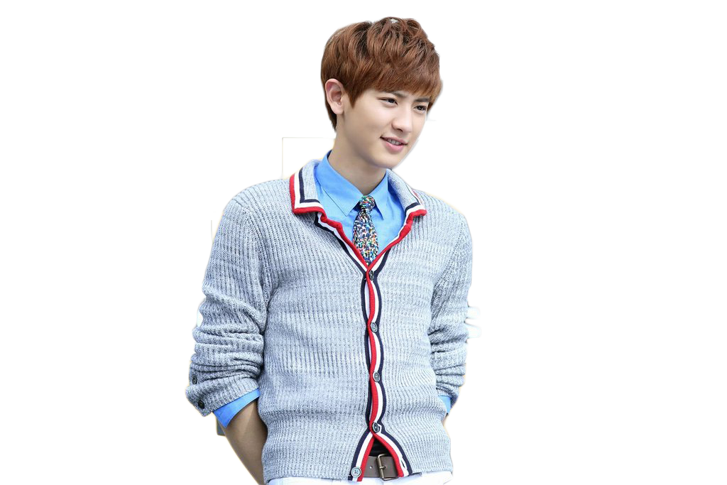 Chanyeol transparent glass. Png by jannbambii on
