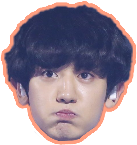 Chanyeol transparent forehead. Exo sticker by