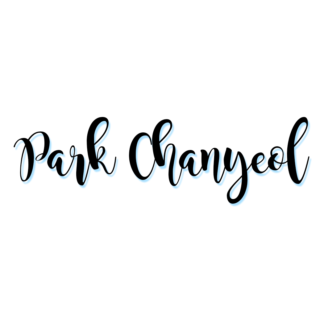 Chanyeol transparent name. Exo park text png