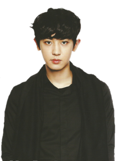 Chanyeol transparent black. Png tumblr