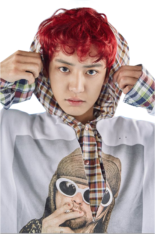 Chanyeol transparent forehead. Image about kpop in