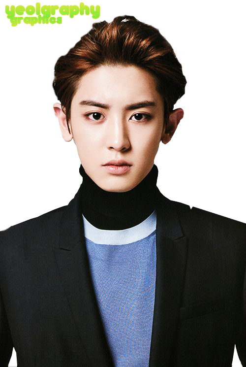 Chanyeol transparent glass. Png image