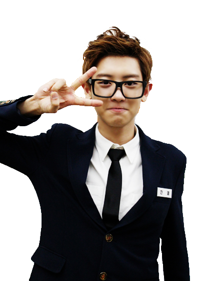 Chanyeol transparent sign. Exo bing images look