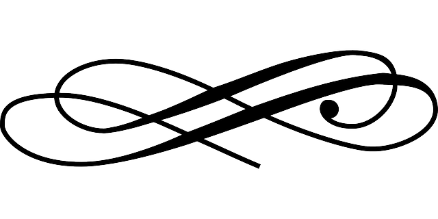Line ornament png. Swash divider writing paragraph
