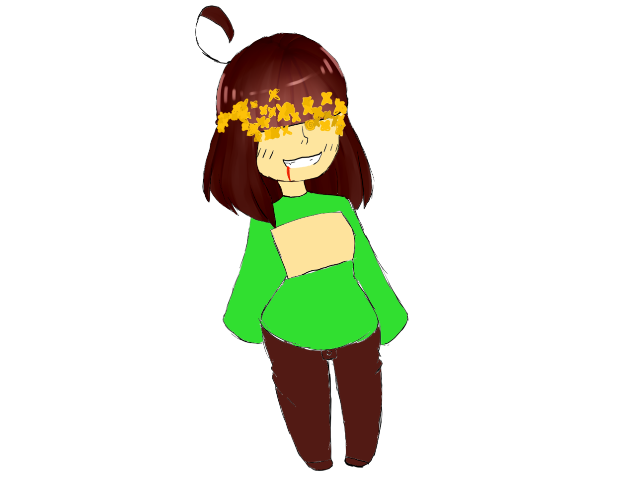 Chara undertale png. Melissa sans illustrations