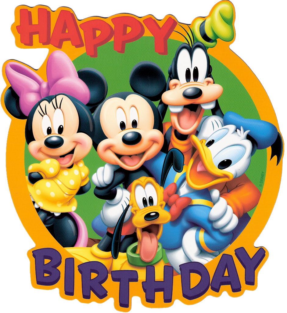 Character clipart birthday. Free disney cliparts download