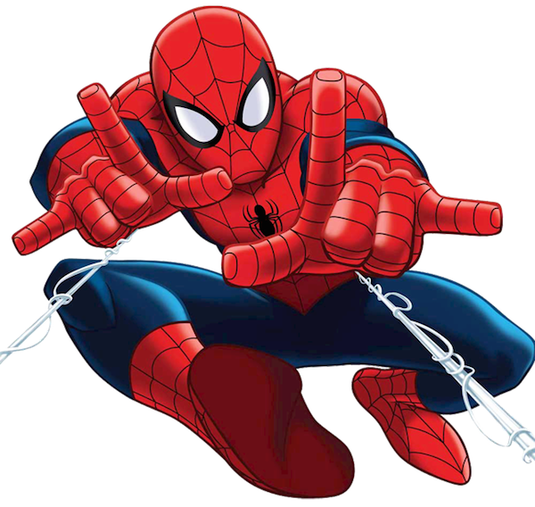 Character clipart birthday. Spider man happy