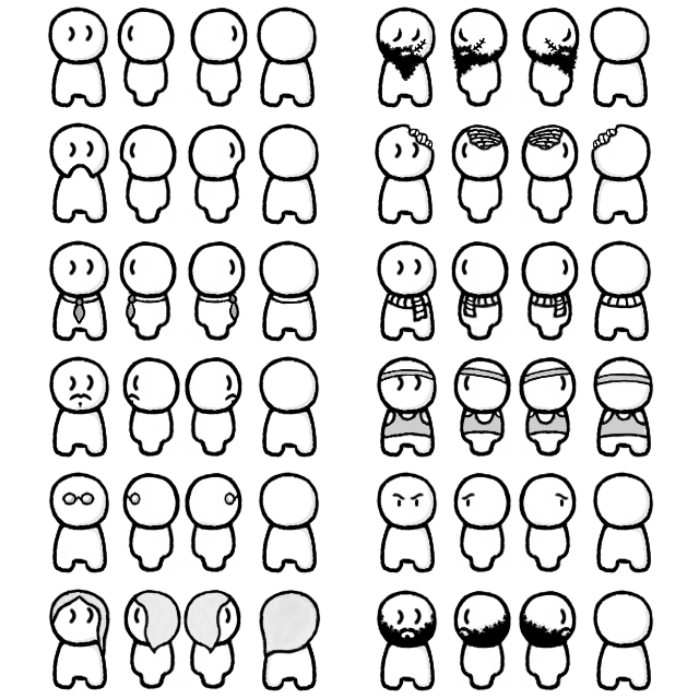 Character sprite sheet png. D characters by