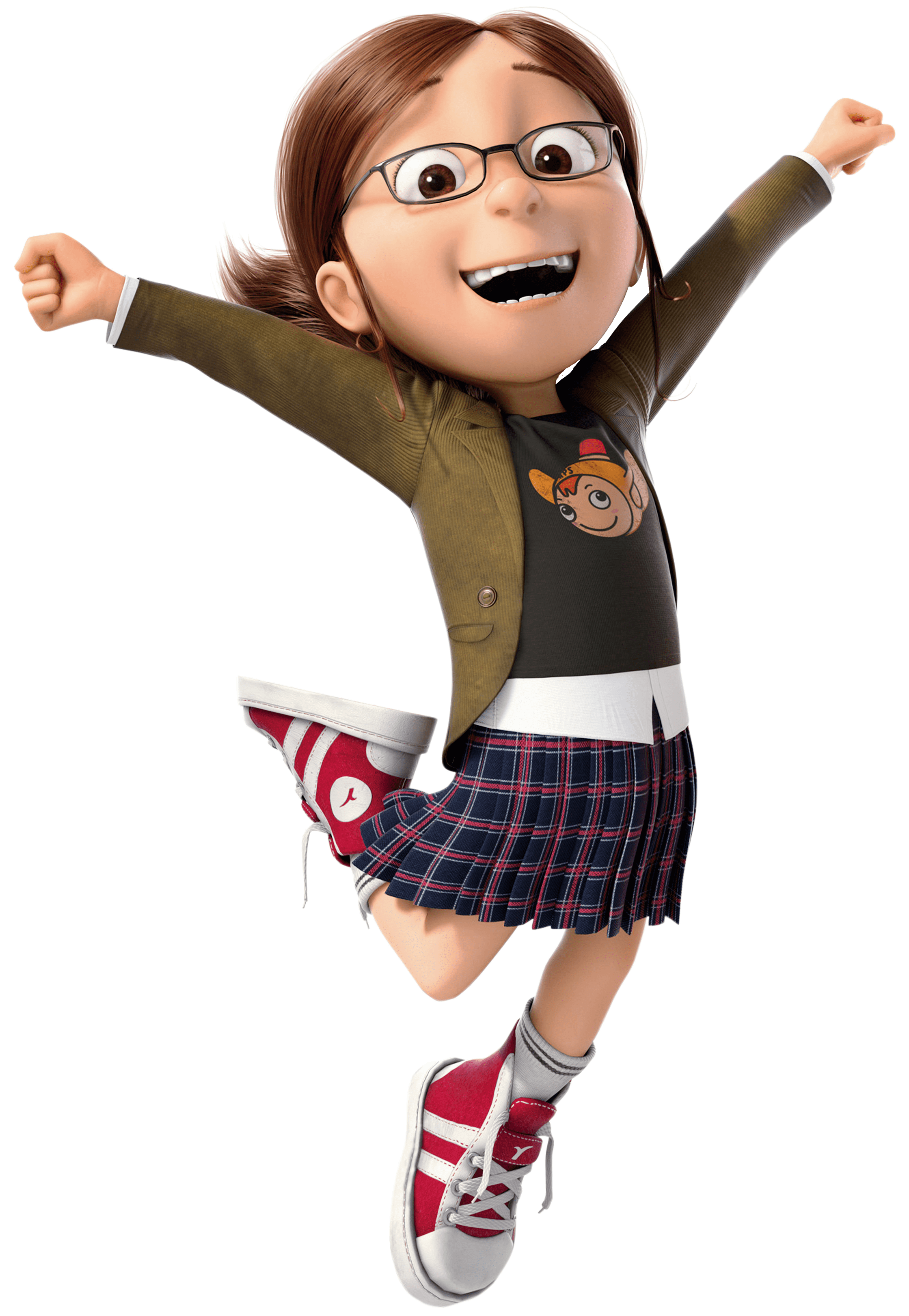 Character transparent despicable me. Margo jumping png stickpng
