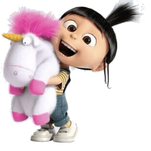 Character transparent despicable me. Agnes and unicorn png