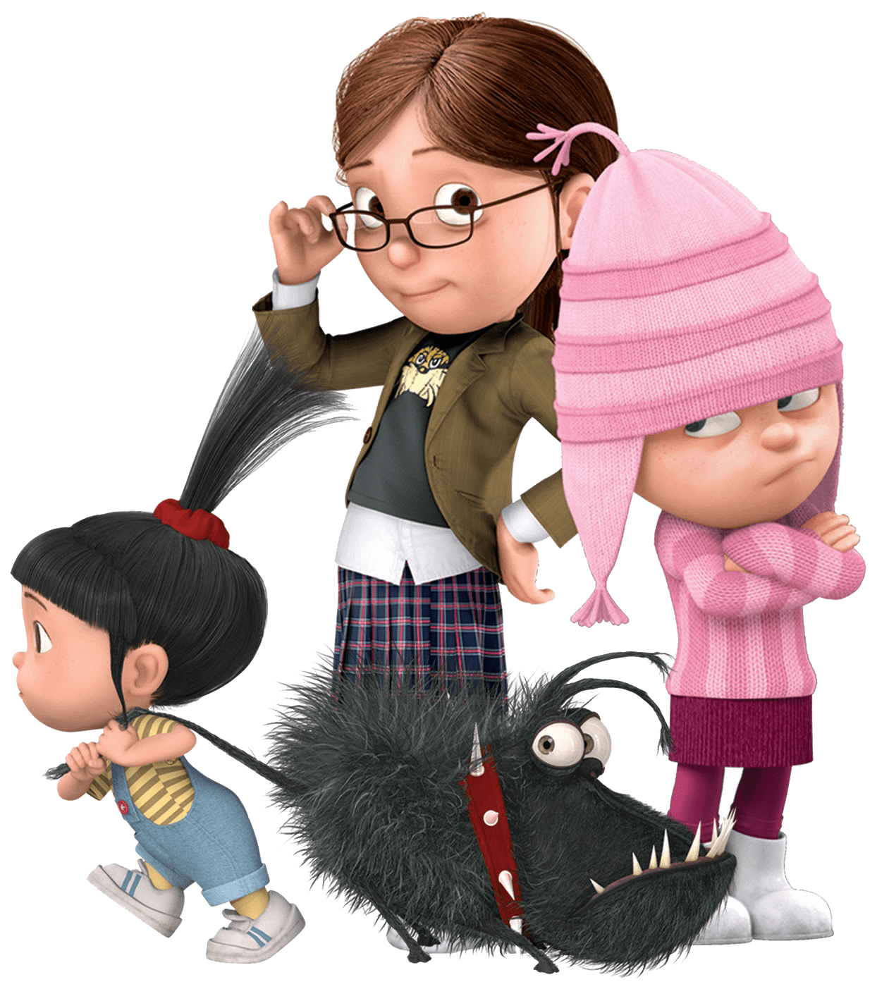 Character transparent despicable me. Kids and dog png