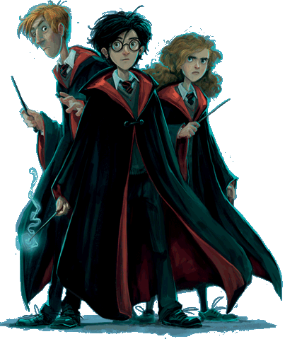 Character transparent harry potter. Image trio bloomsbury png
