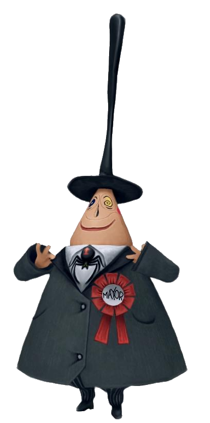 Character transparent nightmare before christmas. Mayor of halloween town