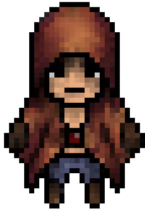 Character transparent pixel. My attempt on a