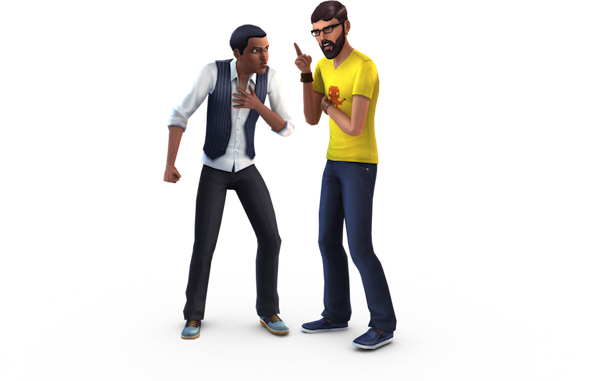 Character transparent sims. New lets characters have