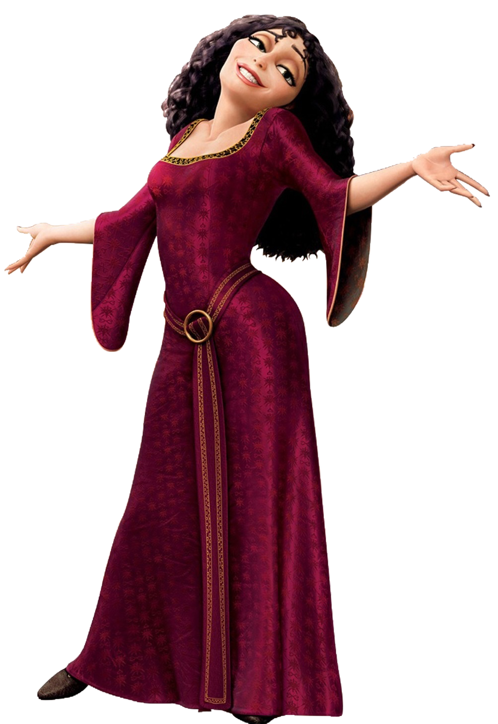 Tangled clip black and white. Mother gothel disney wiki