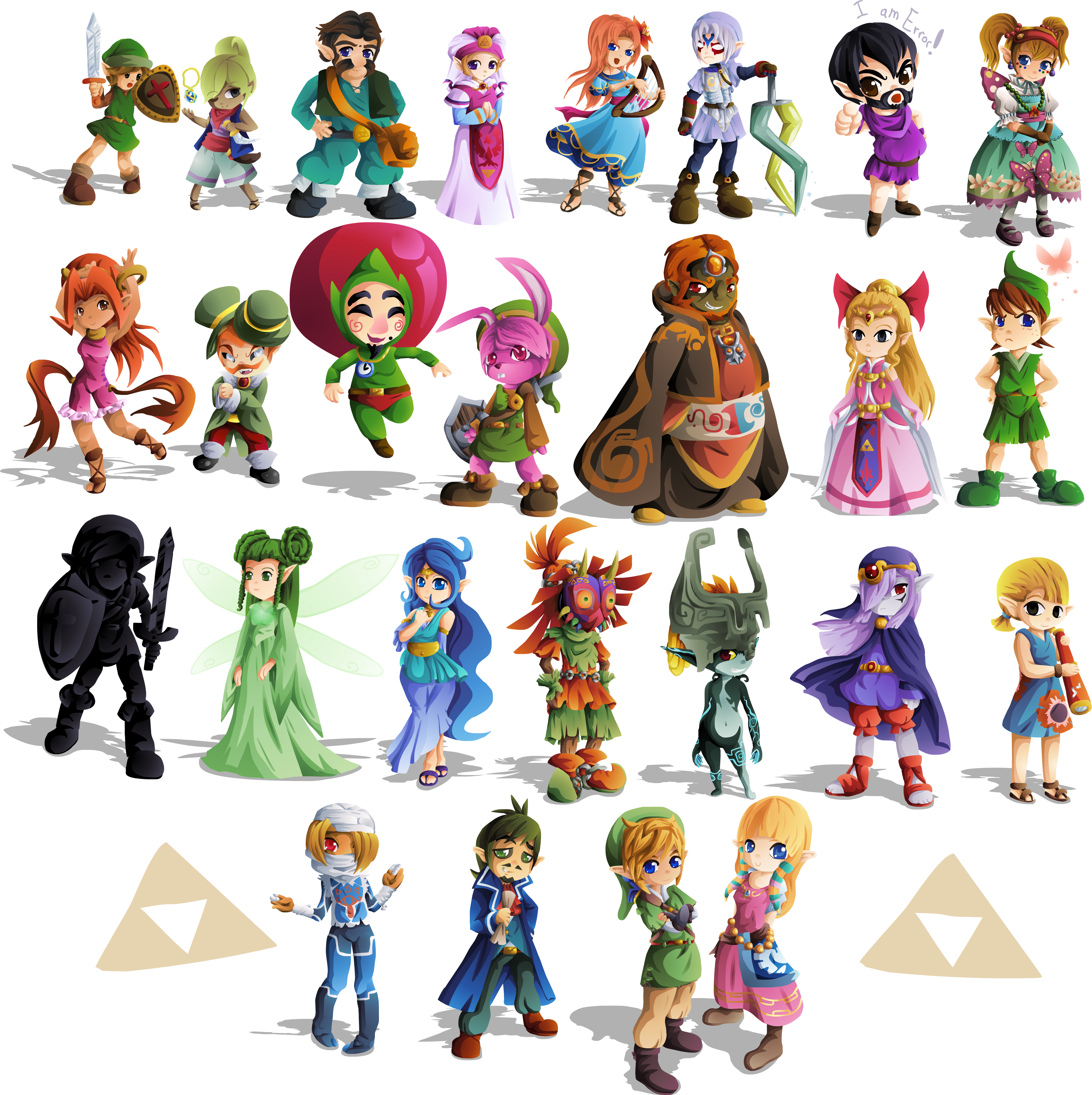 Character transparent zelda. Days of finished