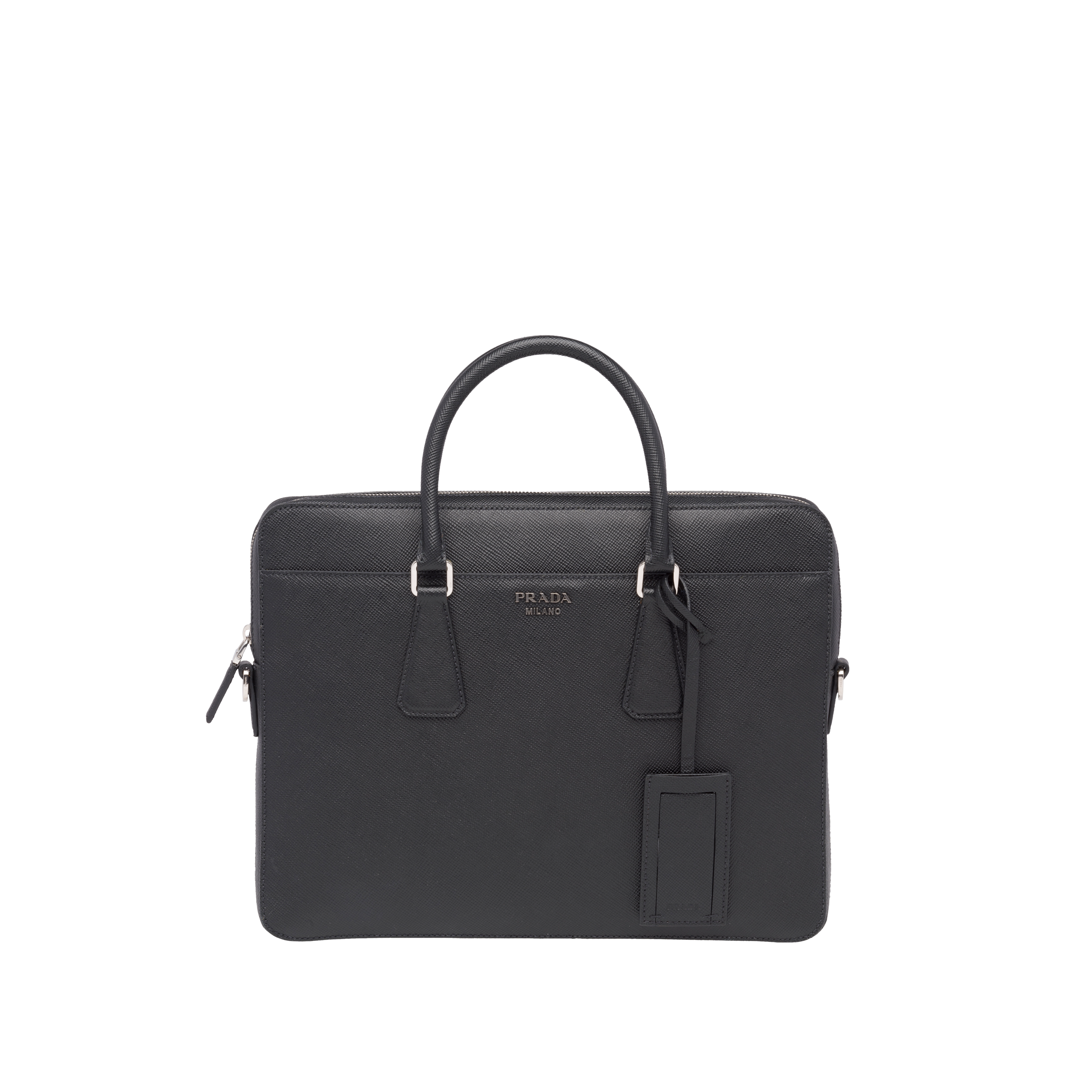 Character with briefcase png. Saffiano cuir leather