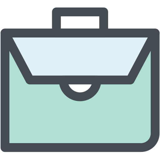 Character with briefcase png. Icons for free bag