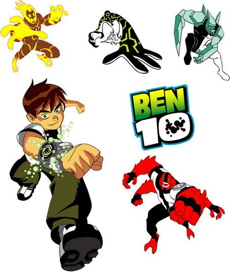 Characters ben 10. Free clipart and vector