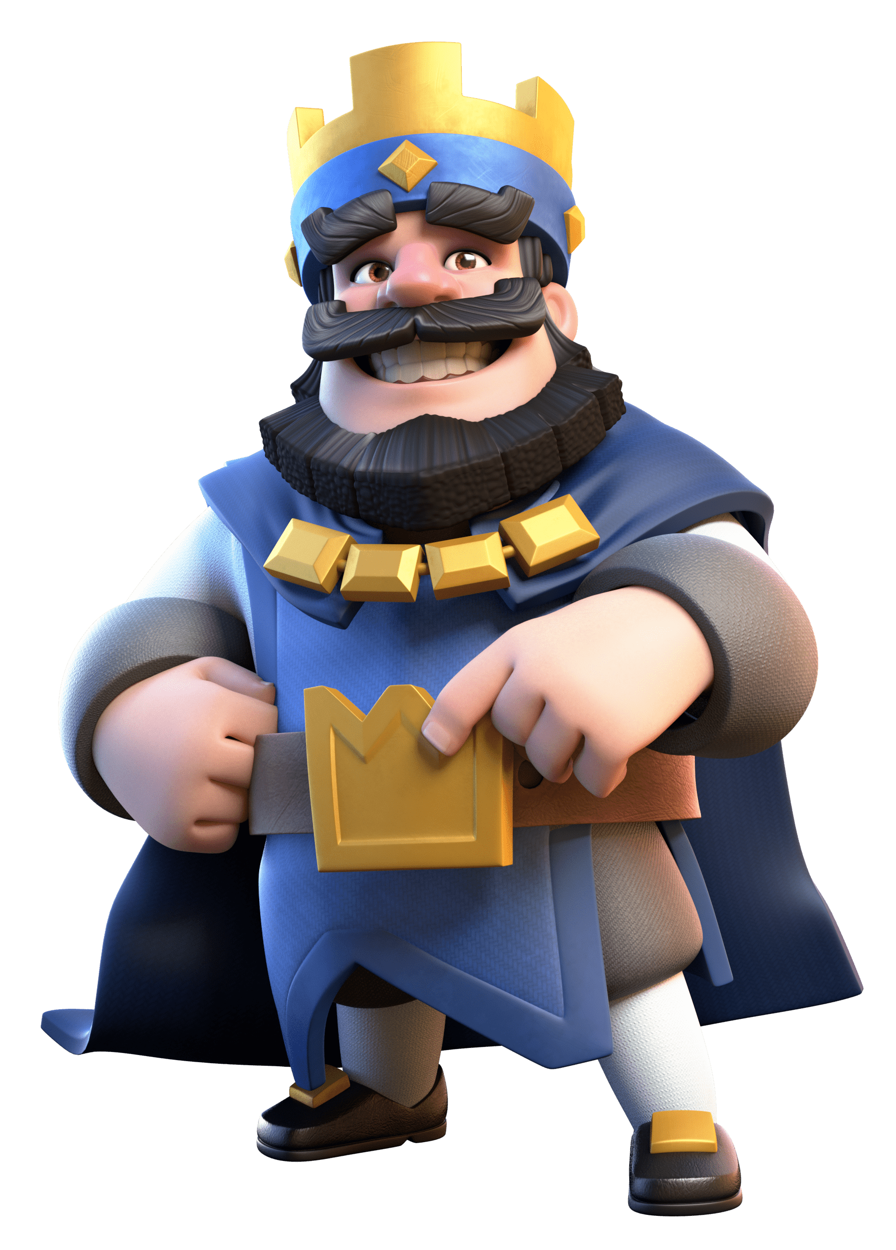 Characters clipart clash royale. Blue king transparent png