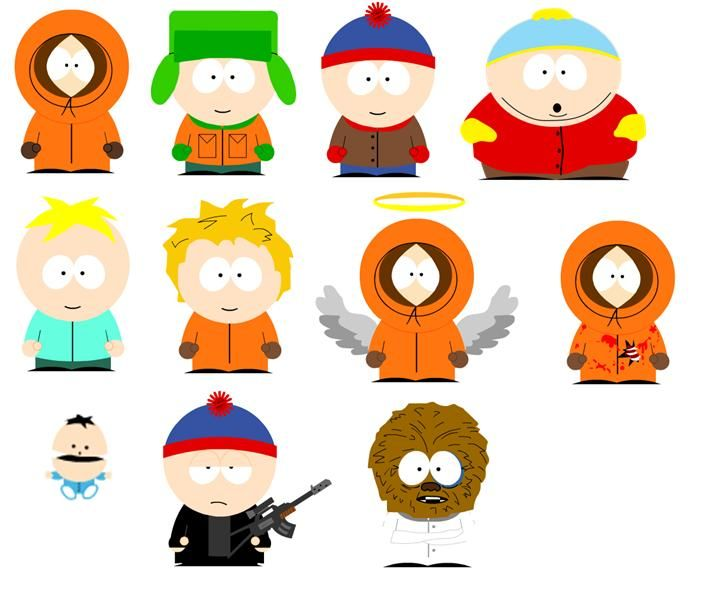 Characters south park. Pictures of by