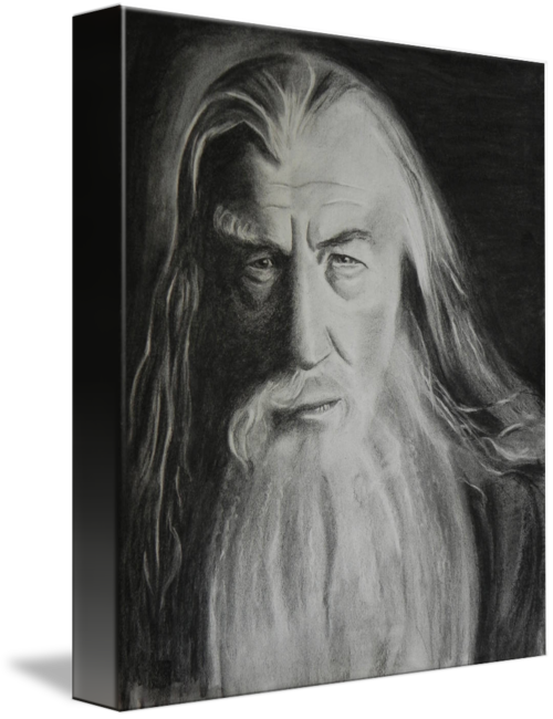 Gandalf original by kira. Top drawing charcoal picture royalty free download