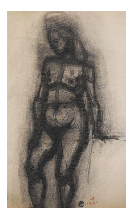 thoughts drawing charcoal