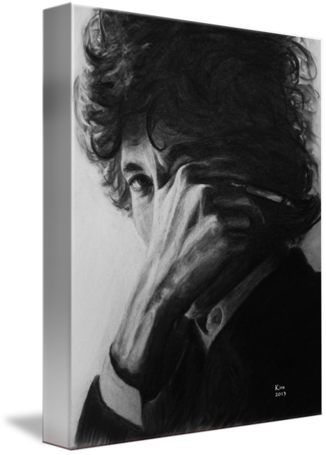 Charcol drawing. Bob dylan charcoal by