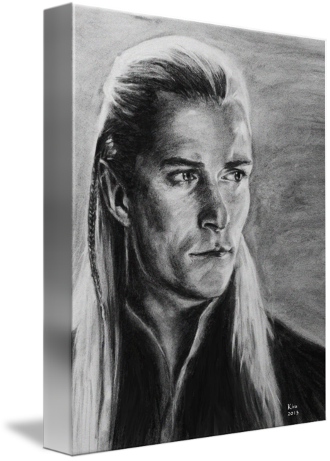 Self drawing charcoal. Legolas by kira rubtsova