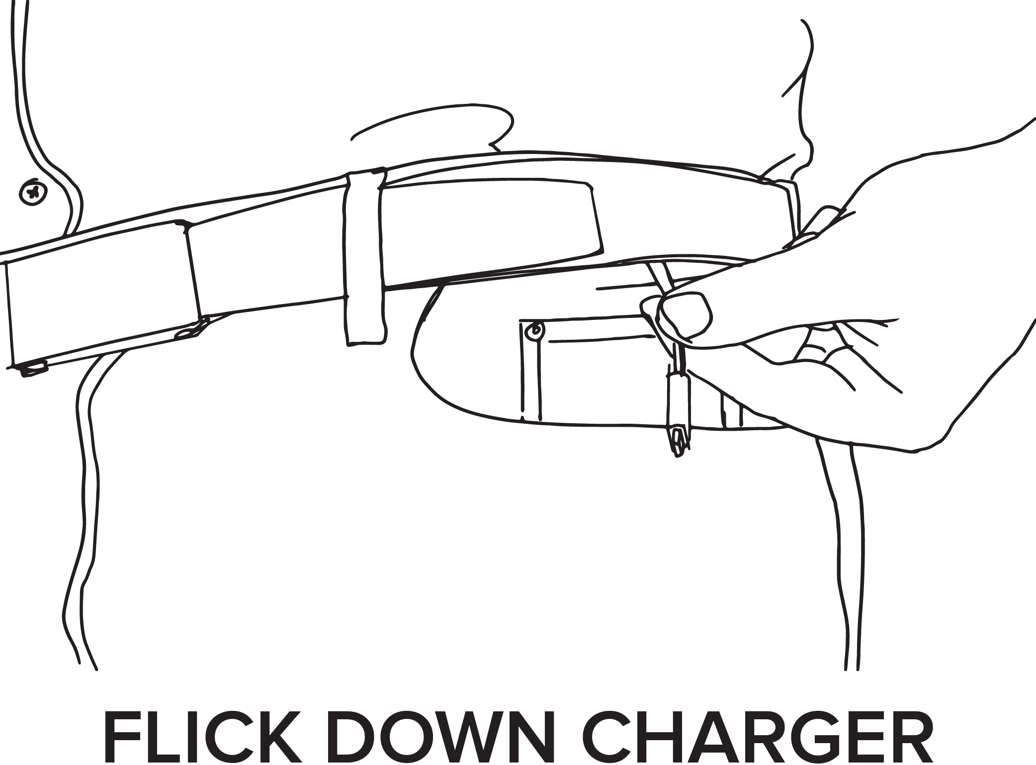 Charger drawing. Xoo belt a phone