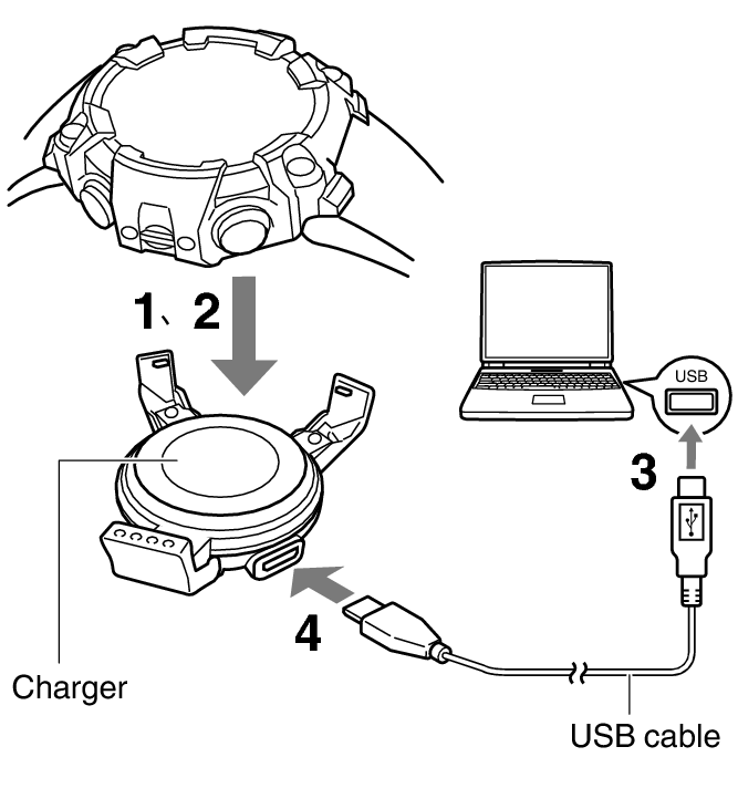 Charger drawing. Charging with the module