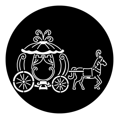 Chariot drawing cinderella. Carriage gobo projected image