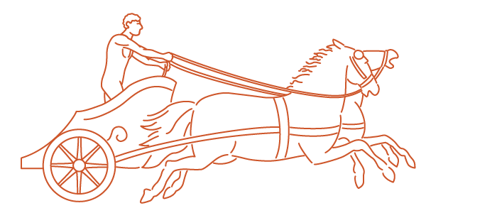 Chariot drawing easy. Collection of racing