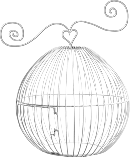 Chariot drawing empty hazelnut. Forgetmenot bird cages