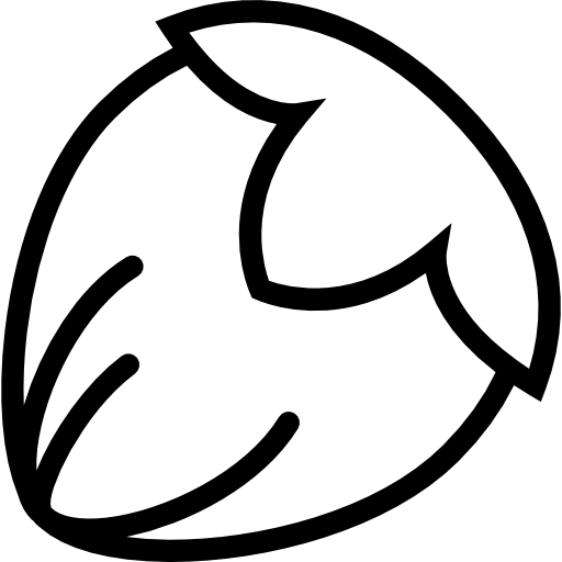 Chariot drawing empty hazelnut. Free food icons icon