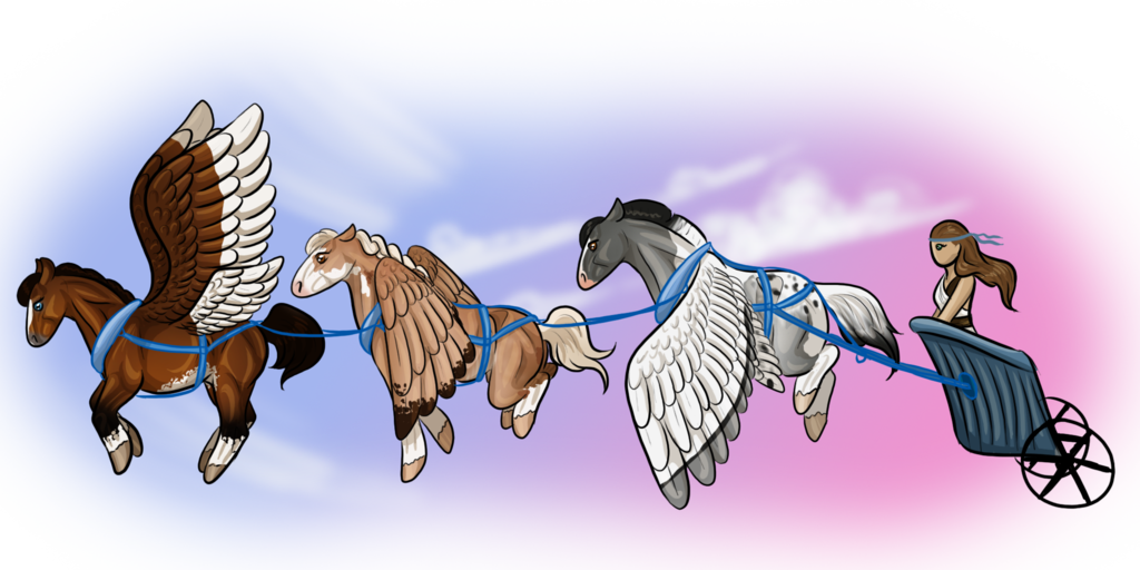 chariot drawing flying