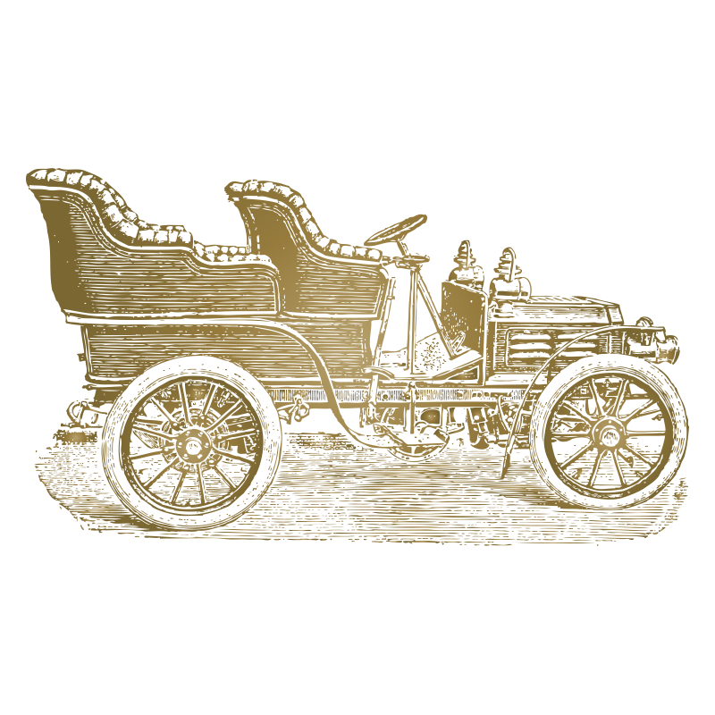 Chariot drawing indian ancient. Vintage car horseless carriage