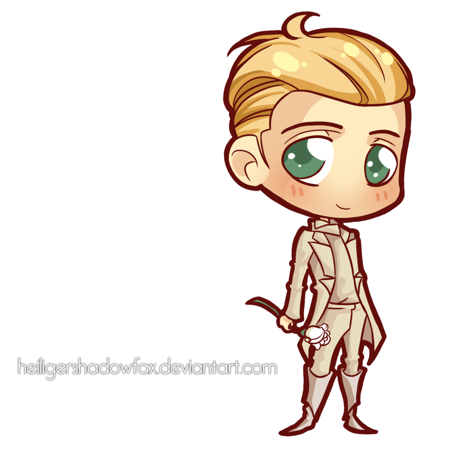 Chariot drawing peeta katniss. Commission hunger chibi games
